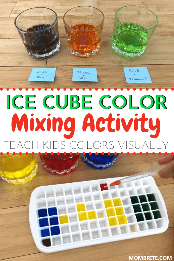 Ice-cube-color-mixing-activity
