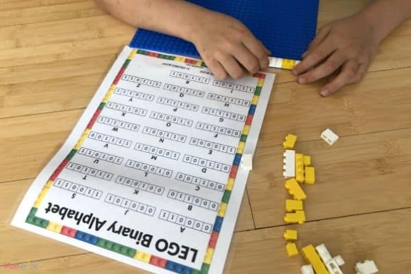 LEGO Binary Alphabet Coding Binary