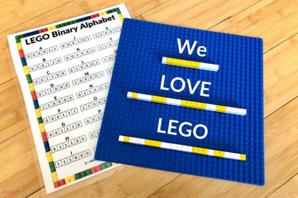 LEGO Binary Alphabet WE LOVE LEGO