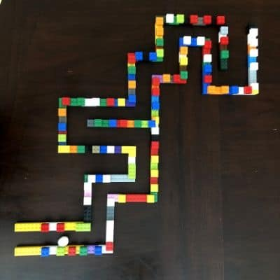 LEGO Pom Pom Maze on Table