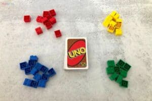 LEGO and UNO Cards Counting Activity