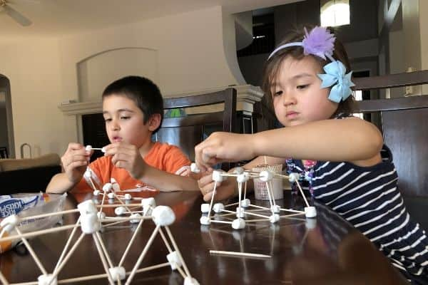 Marshmallow Building Shapes