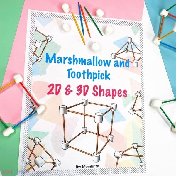 Marshmallow Geometric Shape Task Cards (2)