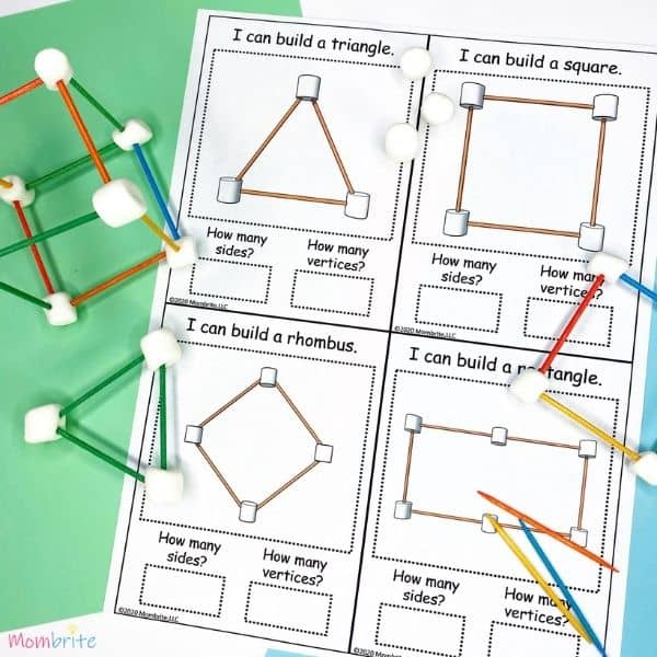 Marshmallow Geometric Shape Task Cards (3)