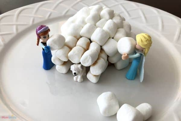 Marshmallow Igloo Pile on Marshmallows