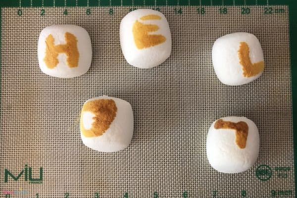 Marshmallow Secret Message HELLO