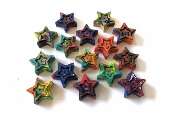 Melted Crayon Stars