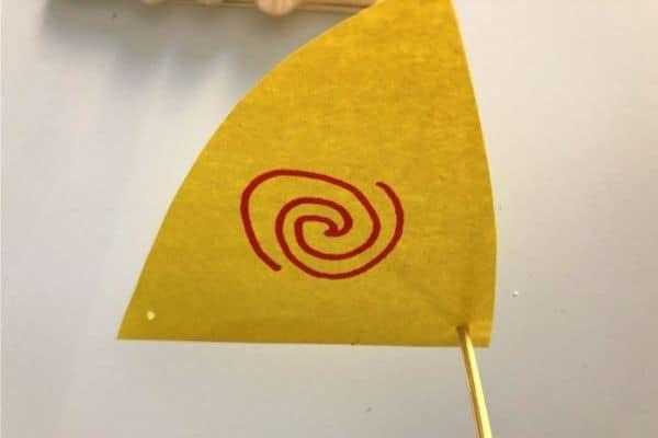 Moana Craft Stick Raft Sail Poke Holes