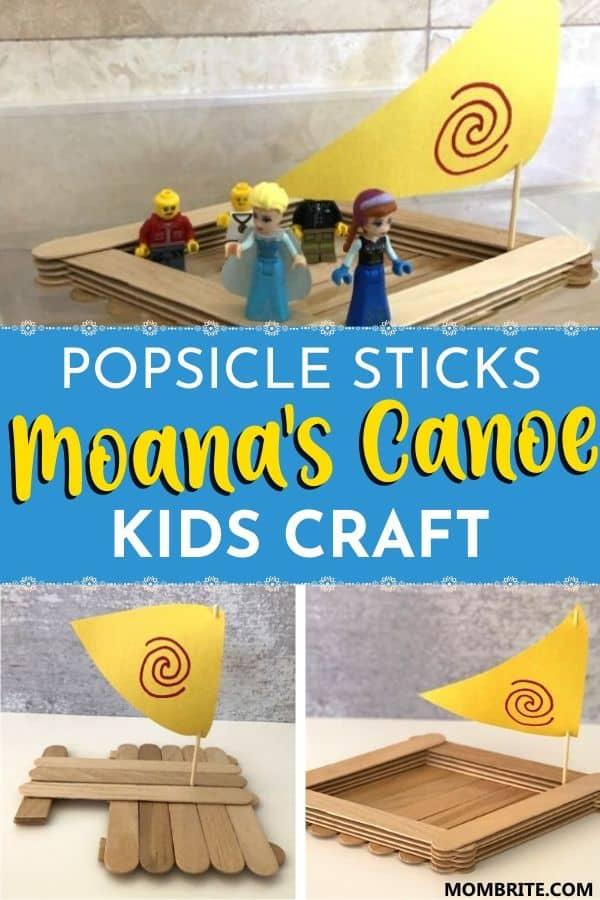Popsicle Sticks Moana_s Canoe Kids Craft