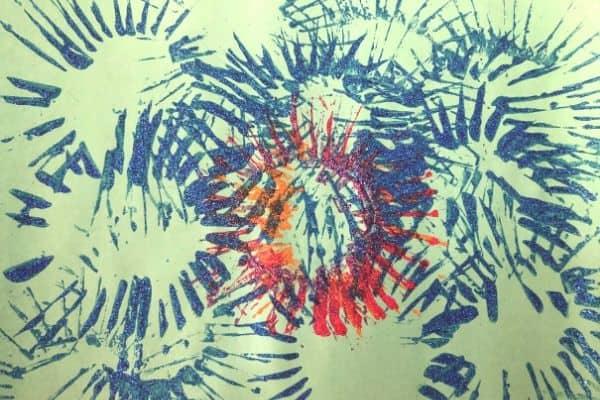 Toilet Paper Roll Fireworks Blue