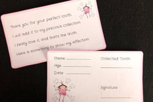 Tooth Fairy Poem and Receipt (1)