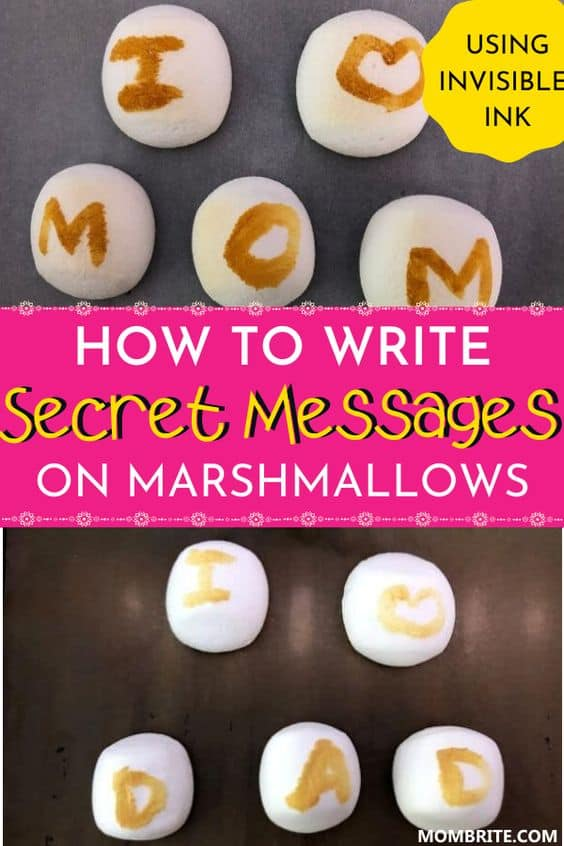 Write Secret Messages on Marshmallows with Invisible Ink Pin