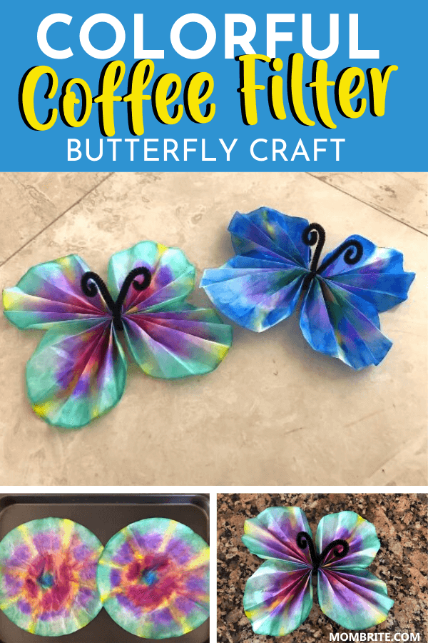 Colorful Coffee Filter Butterly Craft