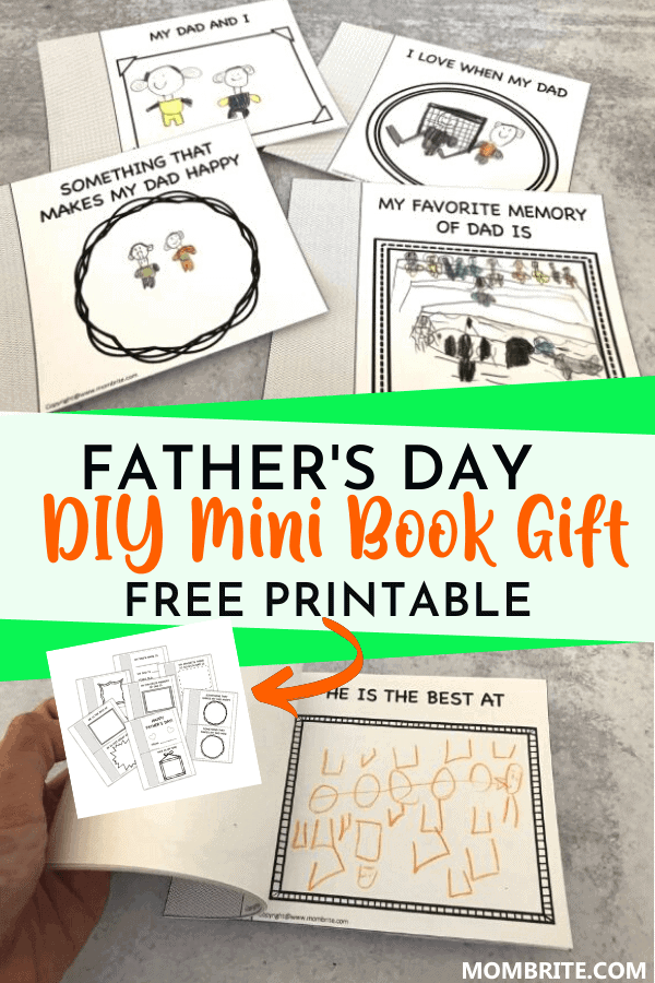 father's day mini book gift