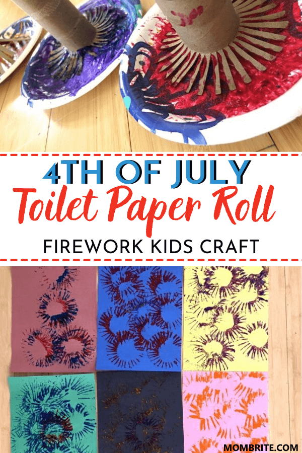 Toilet Paper Roll Firework Kids Craft