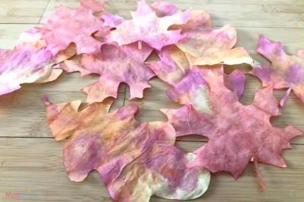 Beautiful Coffee Filter Fall Leaves