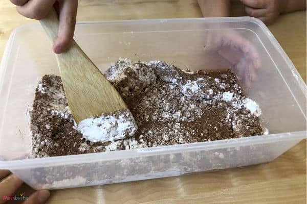Chocolate Oobleck Mixing in Water