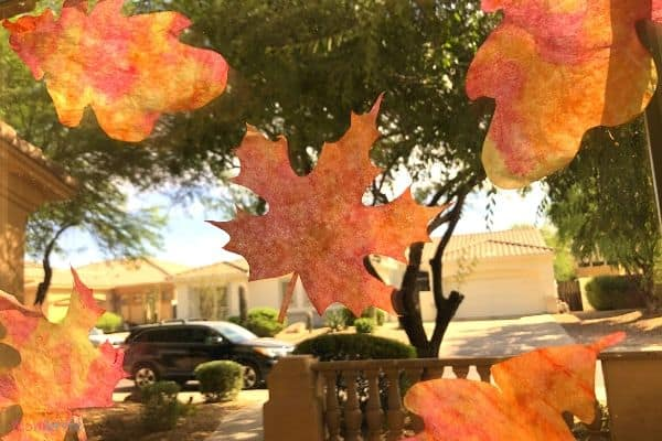 Coffee Filter Fall Leaves Suncatcher