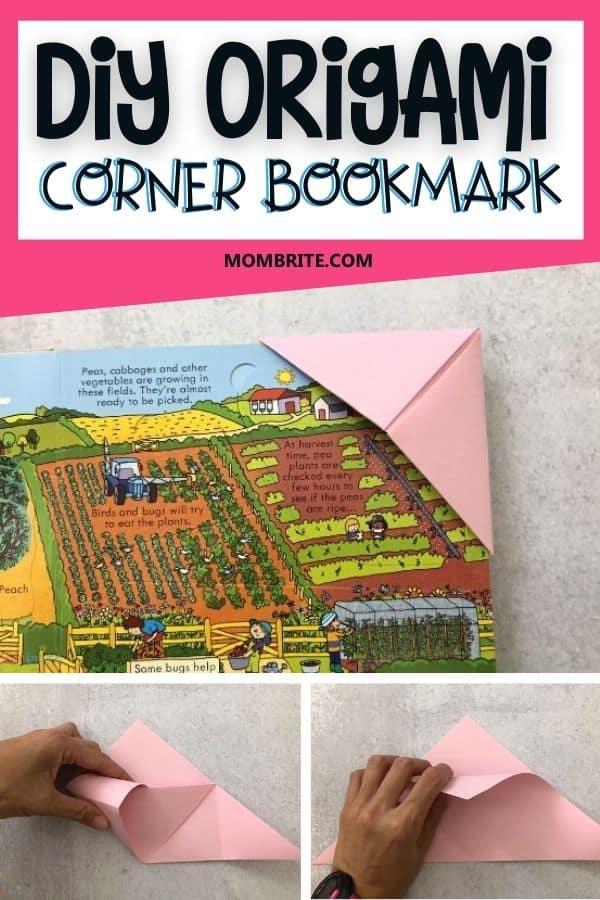 DIY-Origami-Corner-Bookmark-Pin