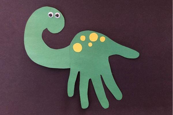 Dinosaur Handprint Craft Black