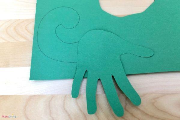 Dinosaur Handprint Craft Head