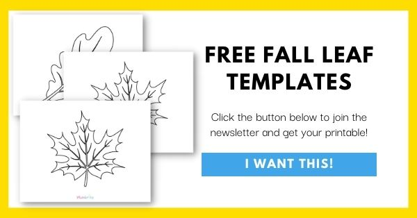 Fall Leaf Templates Email List Opt-In