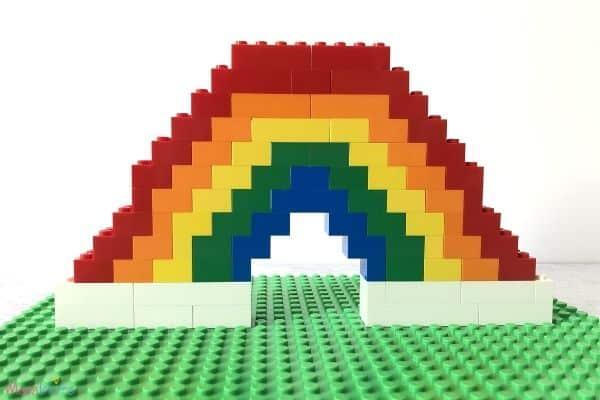 Lego Rainbow with Basic Cloud