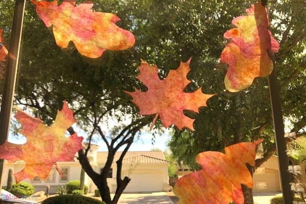 Pretty Coffee Filter Fall Leaves Suncatcher