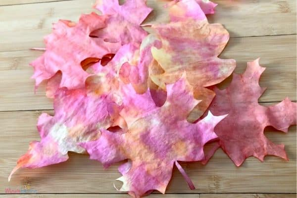 _Pretty Coffee Filter Fall Leaves