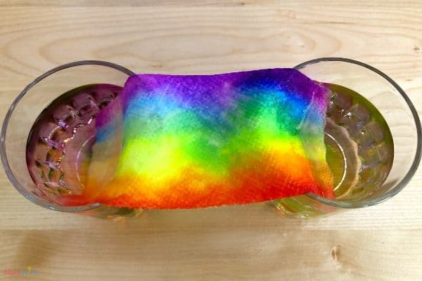 Rainbow Paper Towel Finished