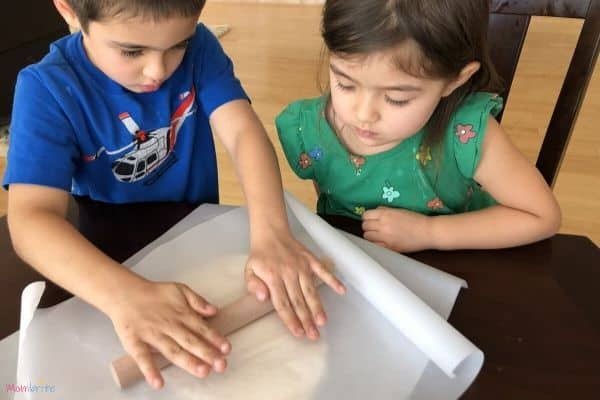 Salt Dough Dinosaur Fossils Roll Out