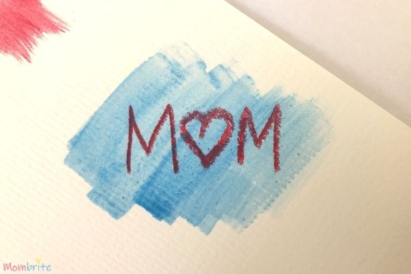 White Crayon Secret Message Blue Watercolor