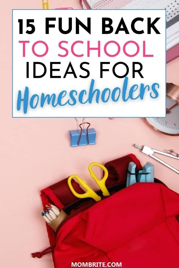 Back to School Ideas for Homeschoolers Pin