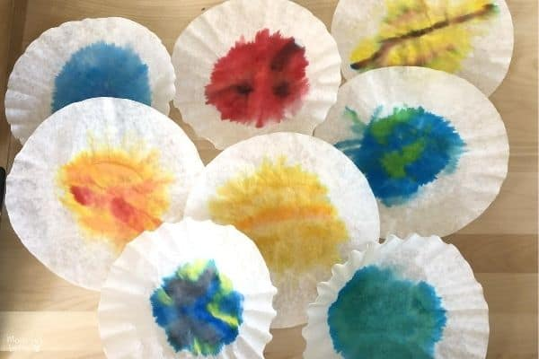 Coffee Filter Planets Dried