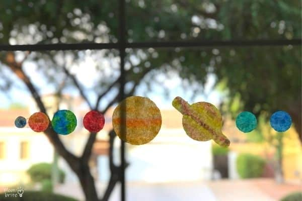 Coffee Filter Planets Suncatchers Line