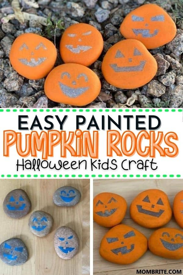 Easy Painted Pumpkin Rocks Pin