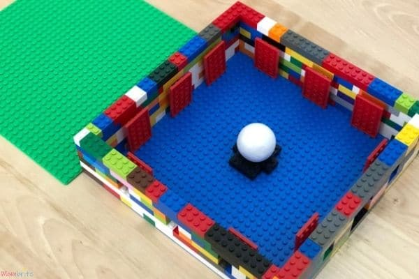 LEGO Moon Phase Science Experiment Inside