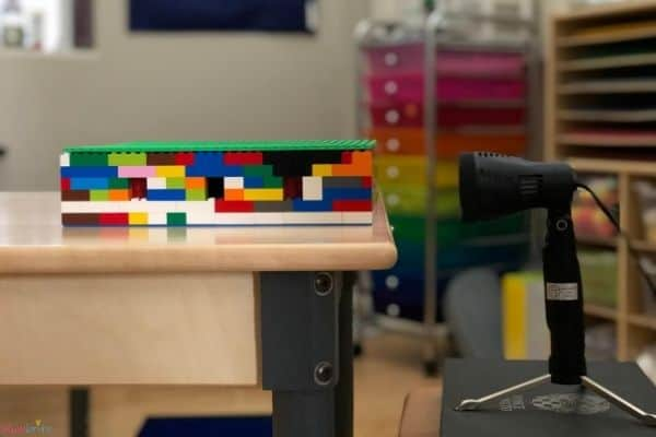 LEGO Moon Phase Science Experiment from Side