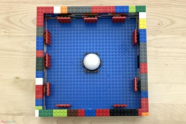 LEGO Moon Phase Science Experiment from Top