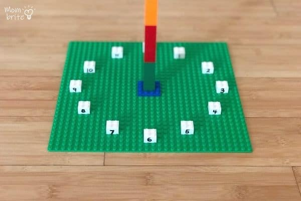 LEGO Sundial Hour Numbers