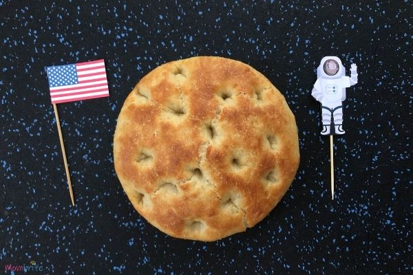 Moon Bread in Space with Stars