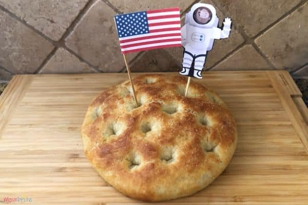 Moon Bread with Flag and Astronaut