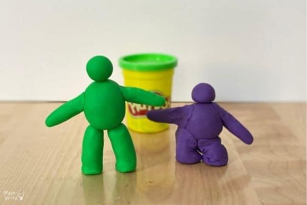Play-Doh Comparison Bones