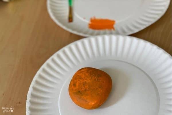 Pumpkin Rock 1 Layer of Paint