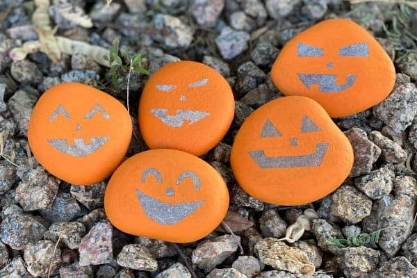 Pumpkin Rocks on Pebbles