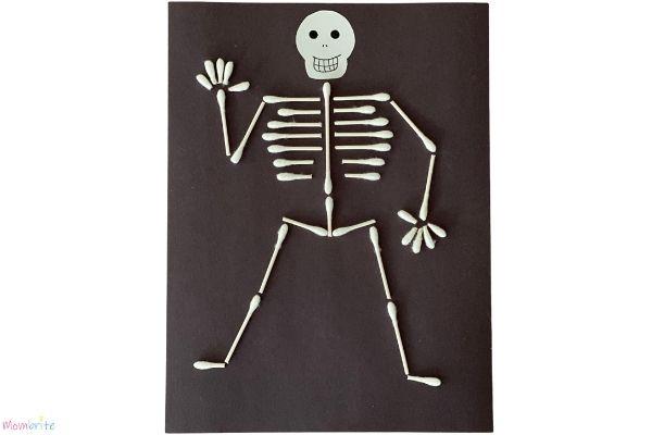 Q Tip Skeleton on White
