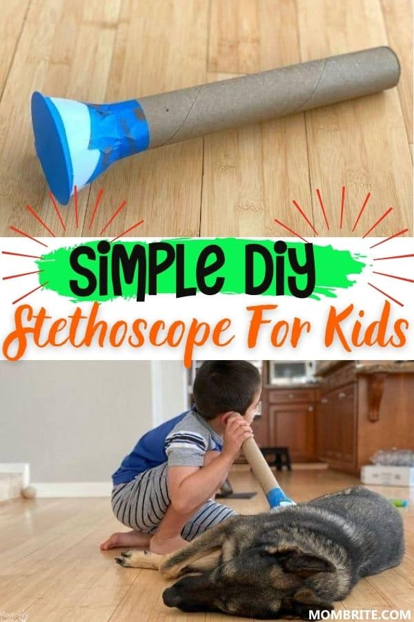 Simple DIY Stethoscope for Kids Pin