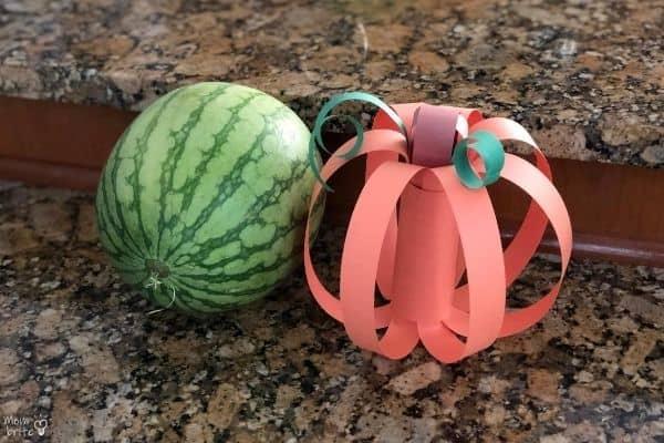 Toilet Paper Roll Pumpkin Watermelon