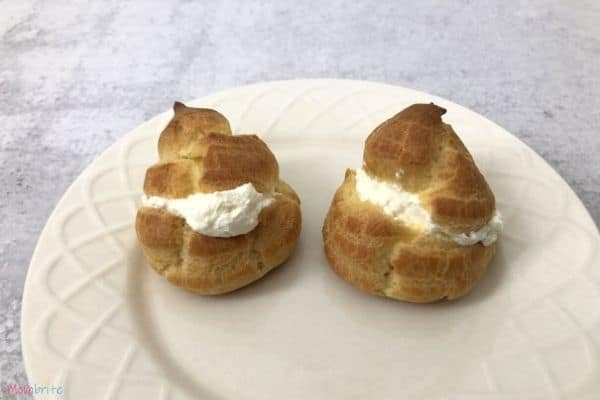 Whipped Cream in Choux Pastry