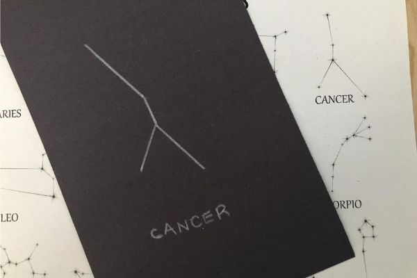 Zodiac Constellation Cancer Outline